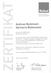 Bioland Zertifikat für 2018